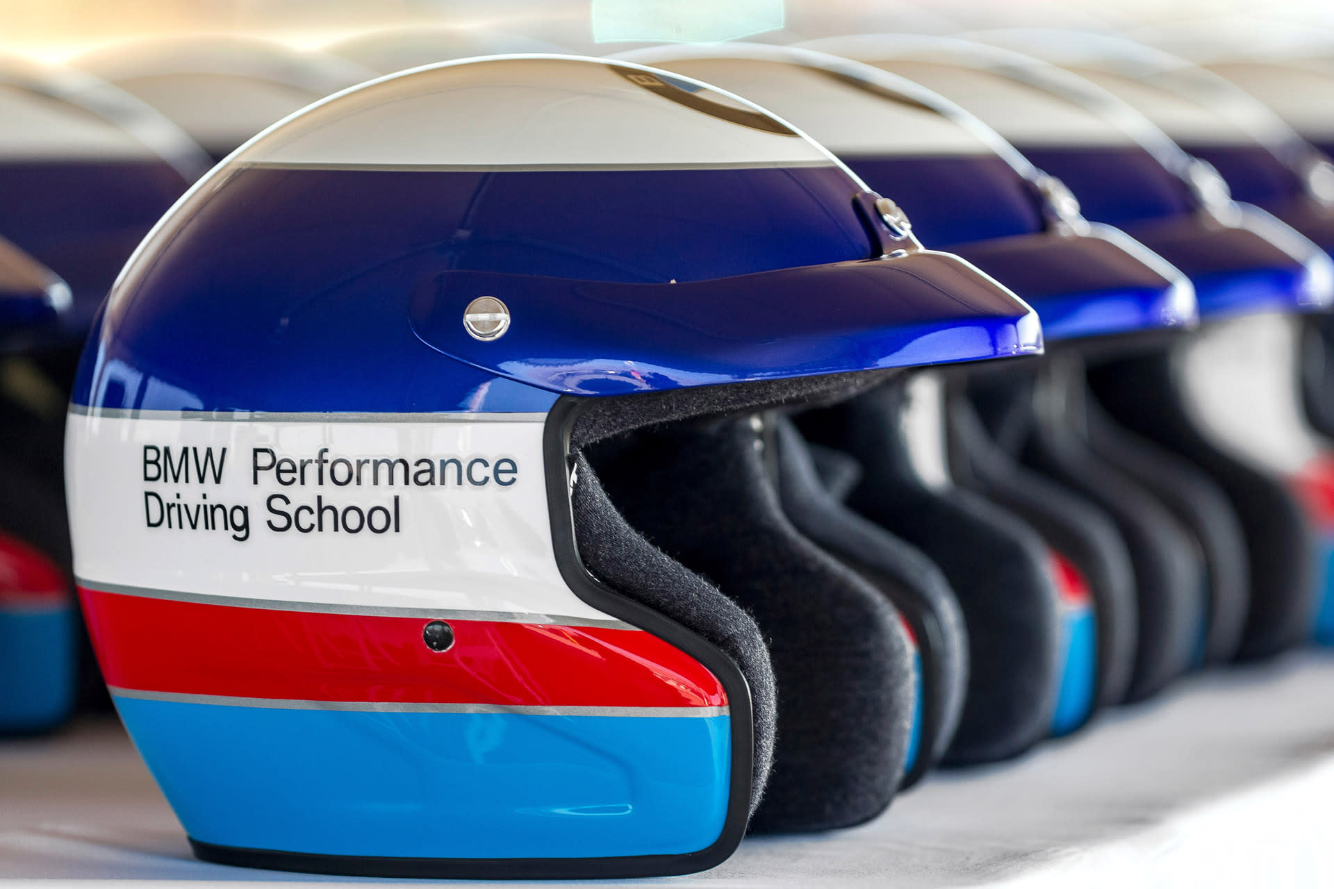 BMW Performance Driving School helmets