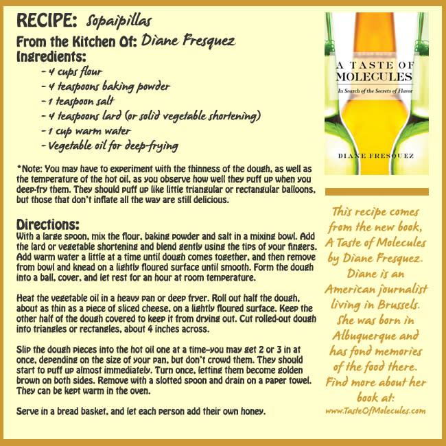 Sopaipilla Recipe - Diane Fresquez
