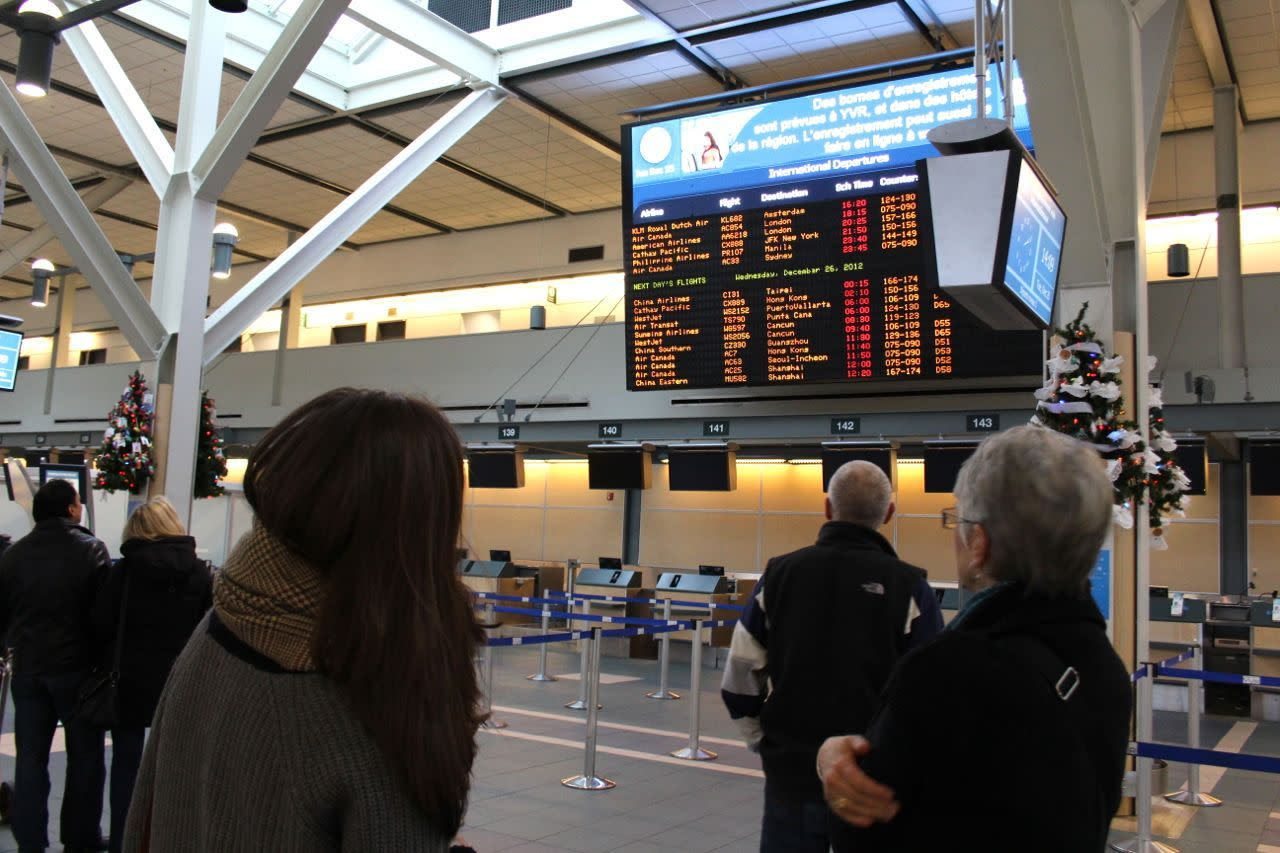 Departures Board at YVR