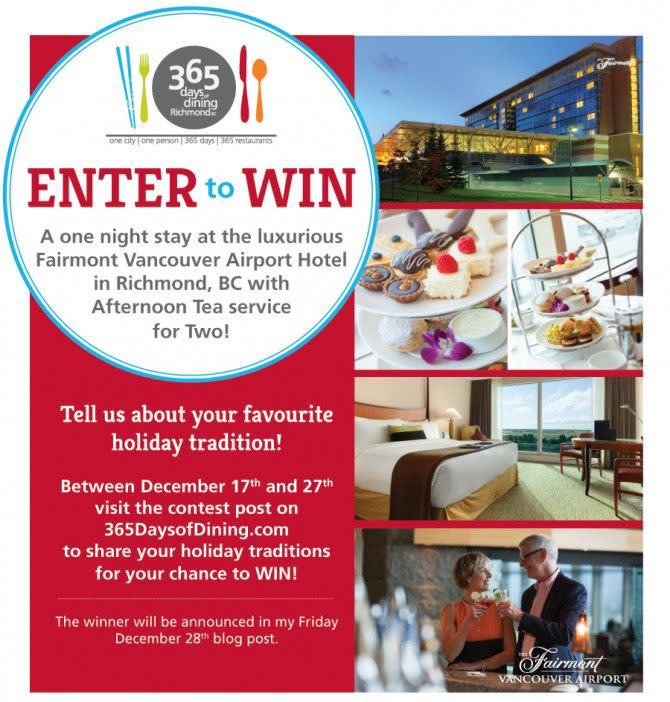 Enter to Win a stay at the Fairmont