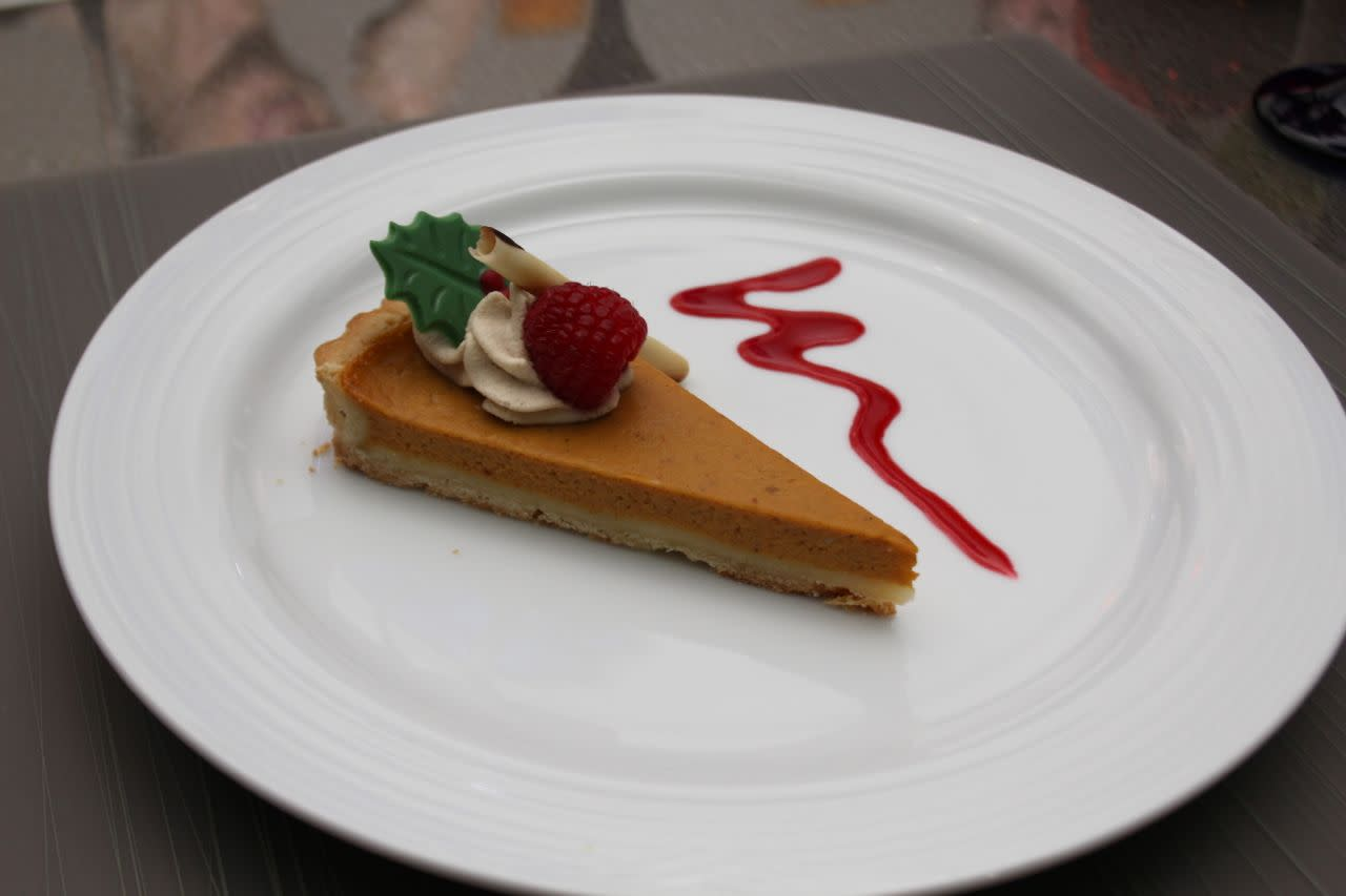 pumpkin and sweet potato tart at Globe @YVR