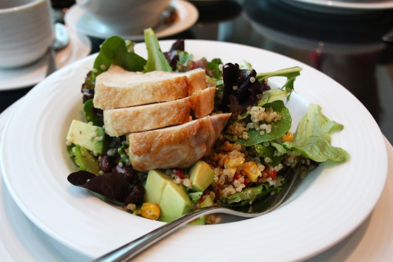 quinoa salad at Jetside Lounge