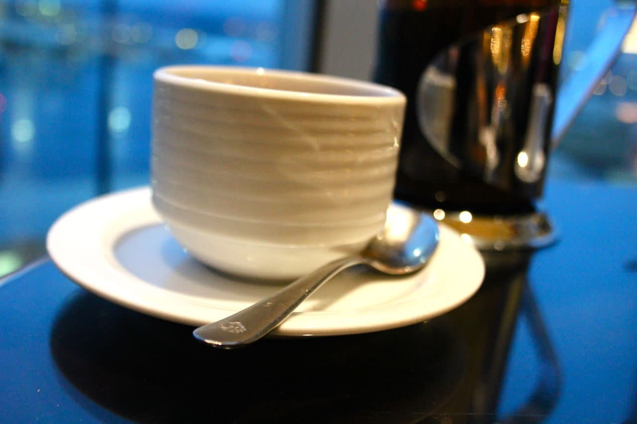tea at the Jetside Lounge at the Fairmont YVR