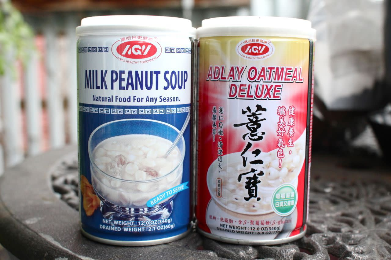 Taiwanese canned sweet soups