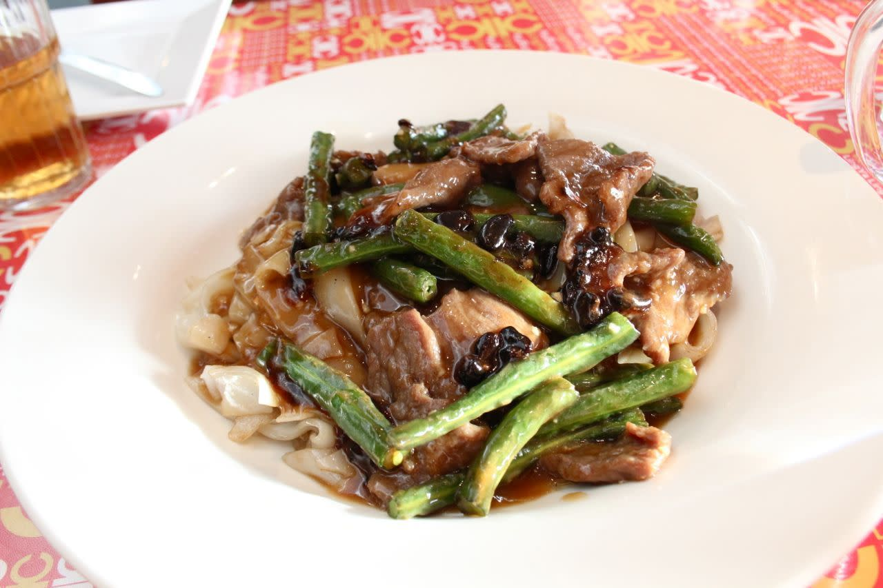 pan-fried green beans and beef
