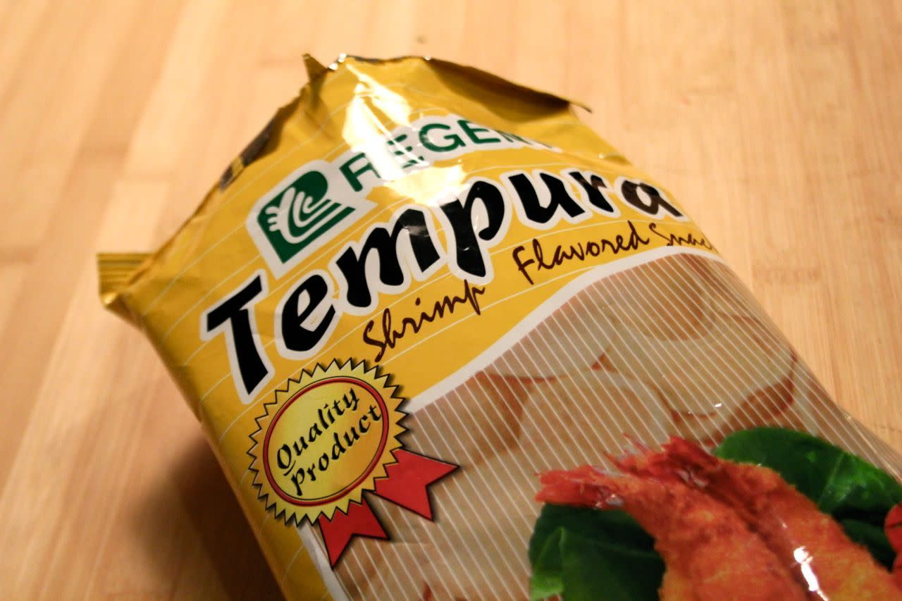 Tempura shrimp chips