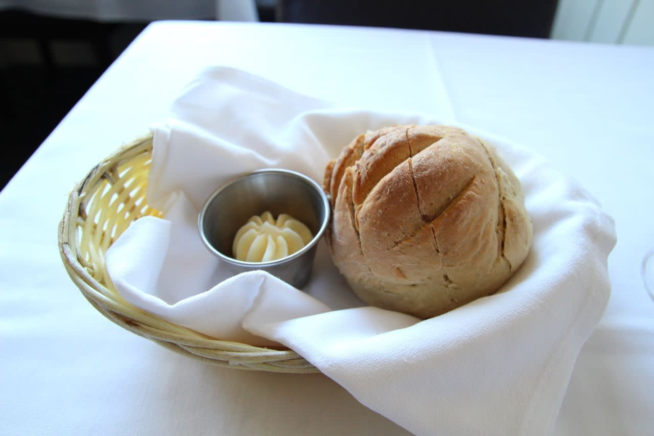 fennel seed bread with butter