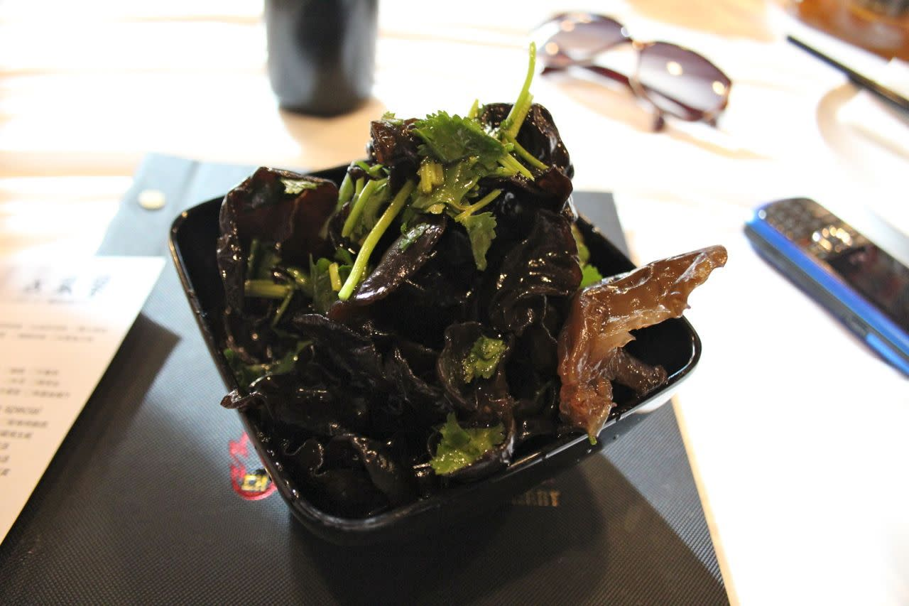 black fungus with mustard oil