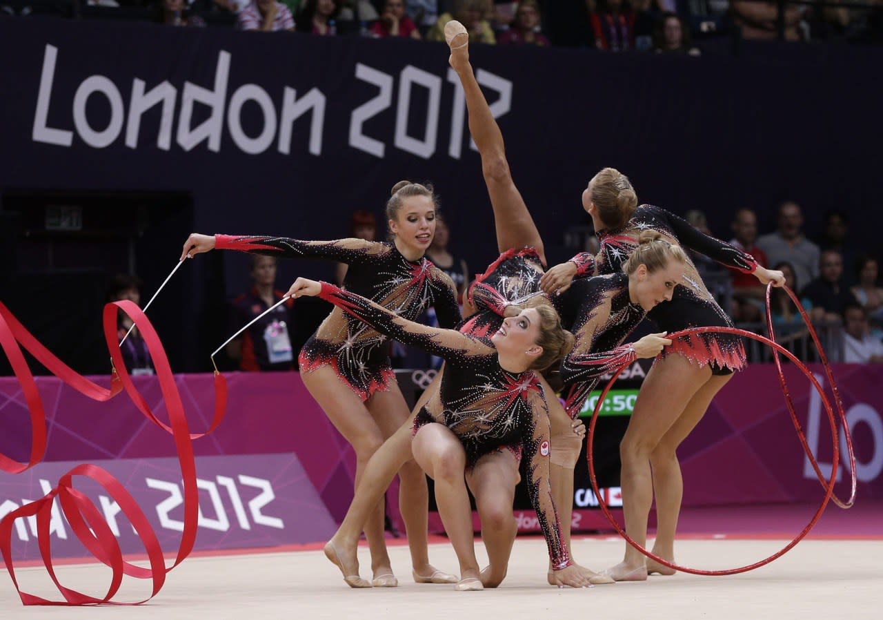 Canadian Olympic Rhythmic Gymnasts compete in London 2012
