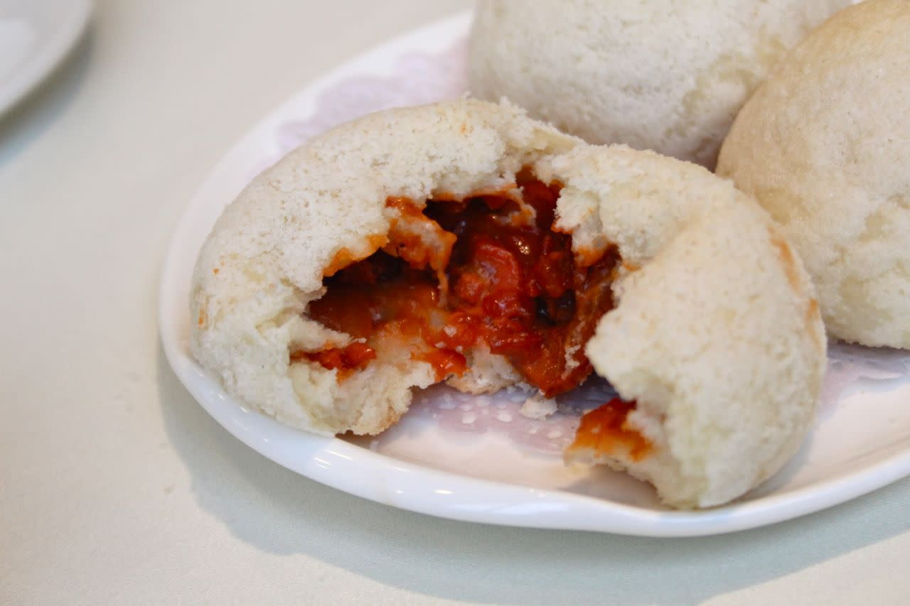 baked BBQ pork bun from Empire Seafood Restaurant