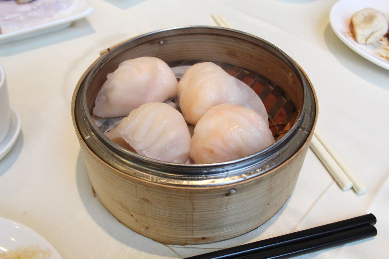 steamed shrimp dumplings from Empire Seafood Restaurant