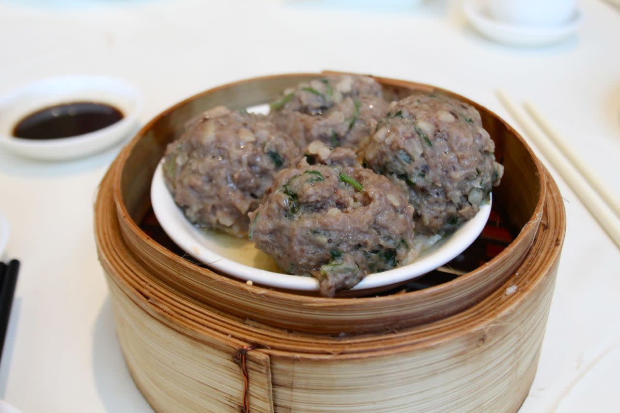 steamed beef balls at Empire Seafood Restaurant
