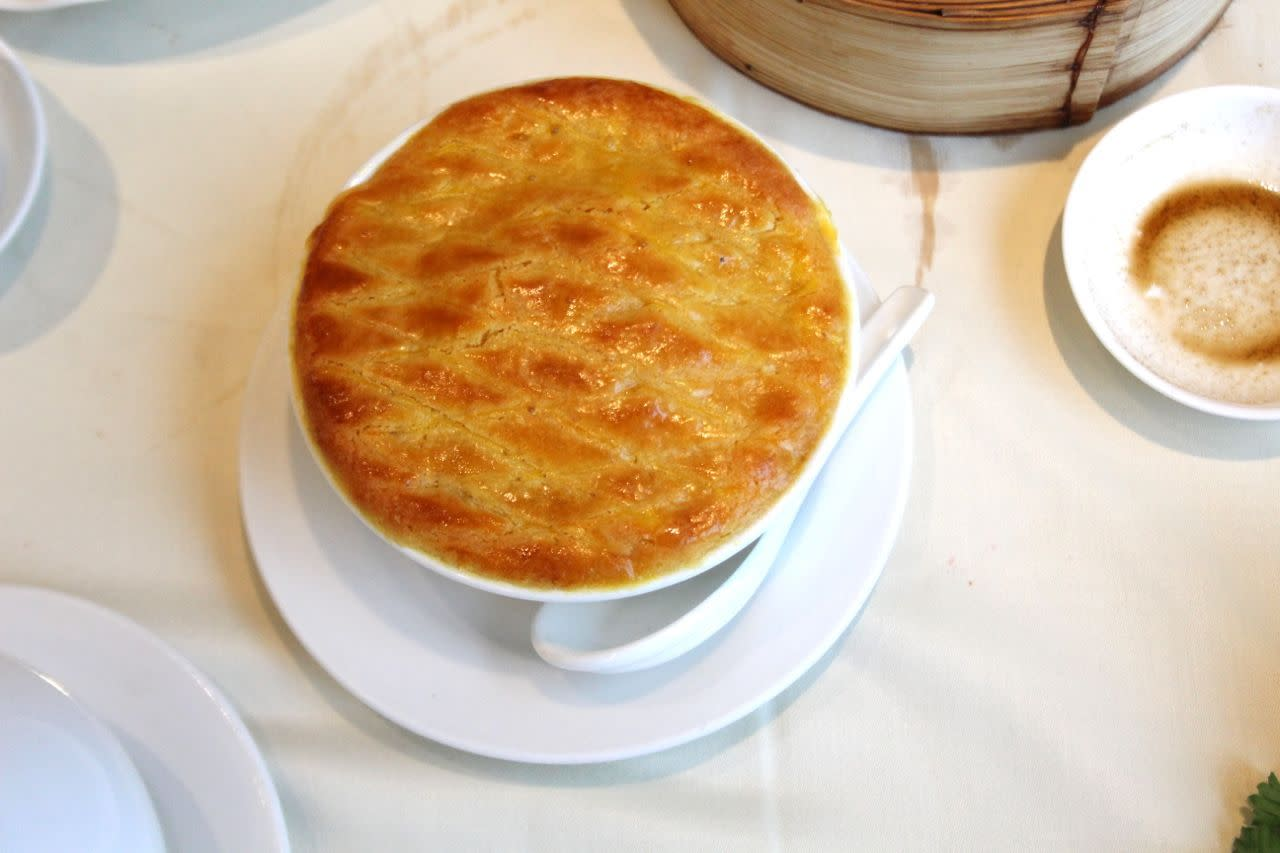 Baked tapioca pudding at Empire Seafood Restaurant