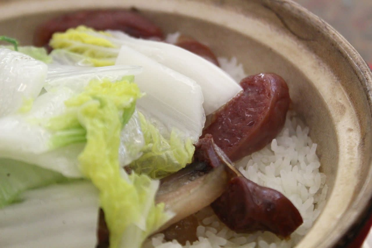 preserved meats in claypot