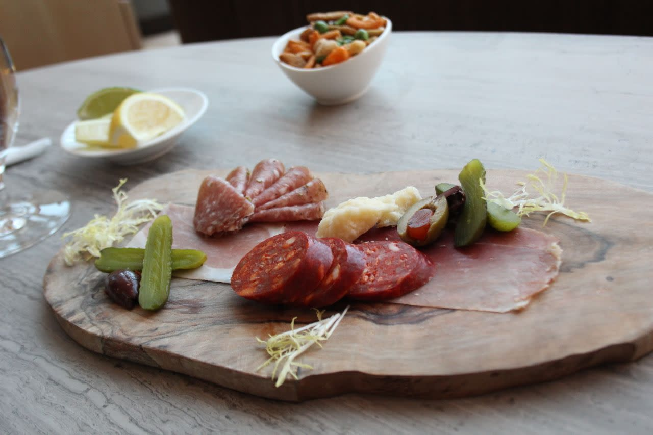 charcuterie plate at the Fairmont YVR