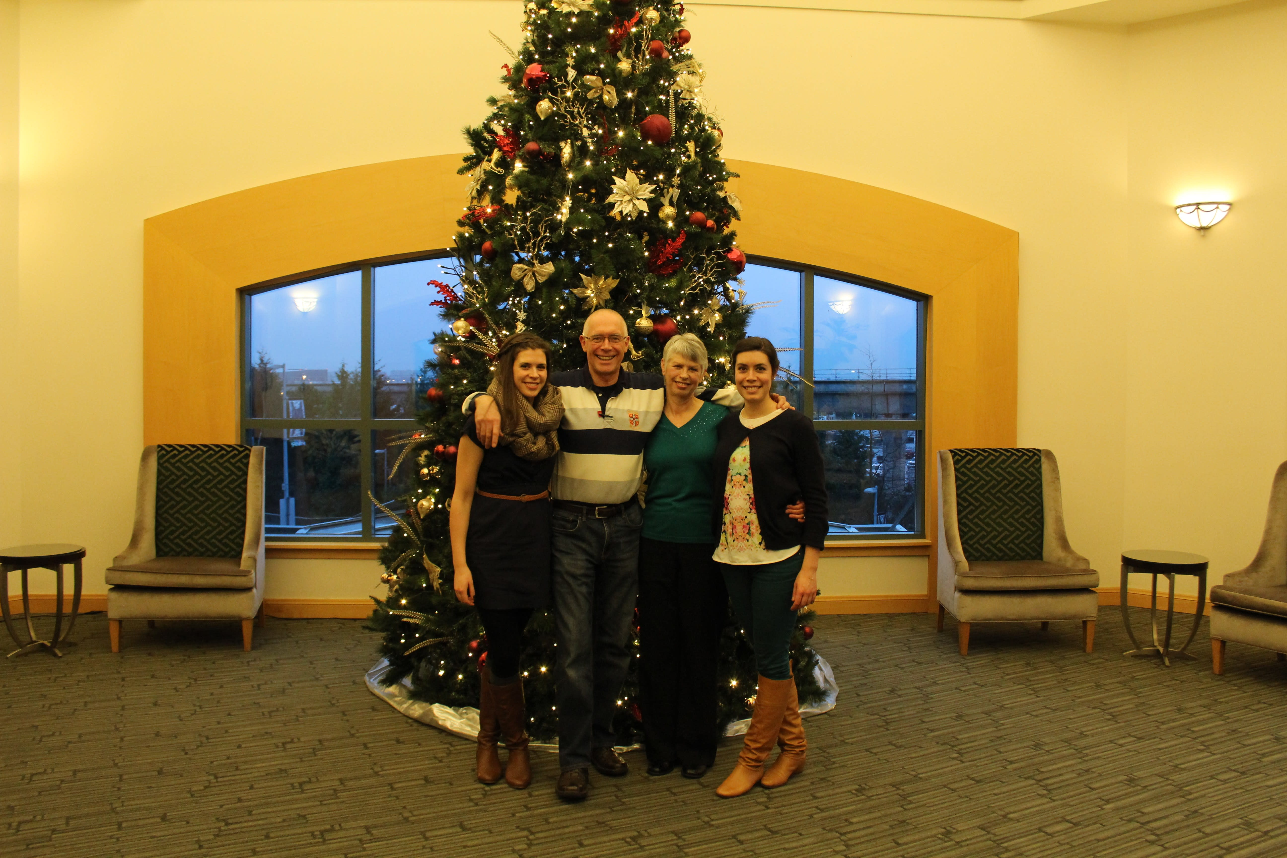 Anderson family at the Fairmont YVR