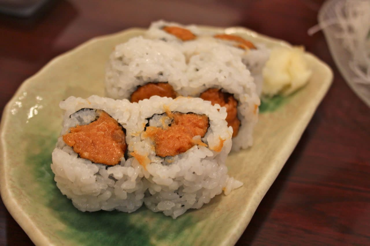 Spicy tuna roll; Photo Credit: Lindsay Anderson