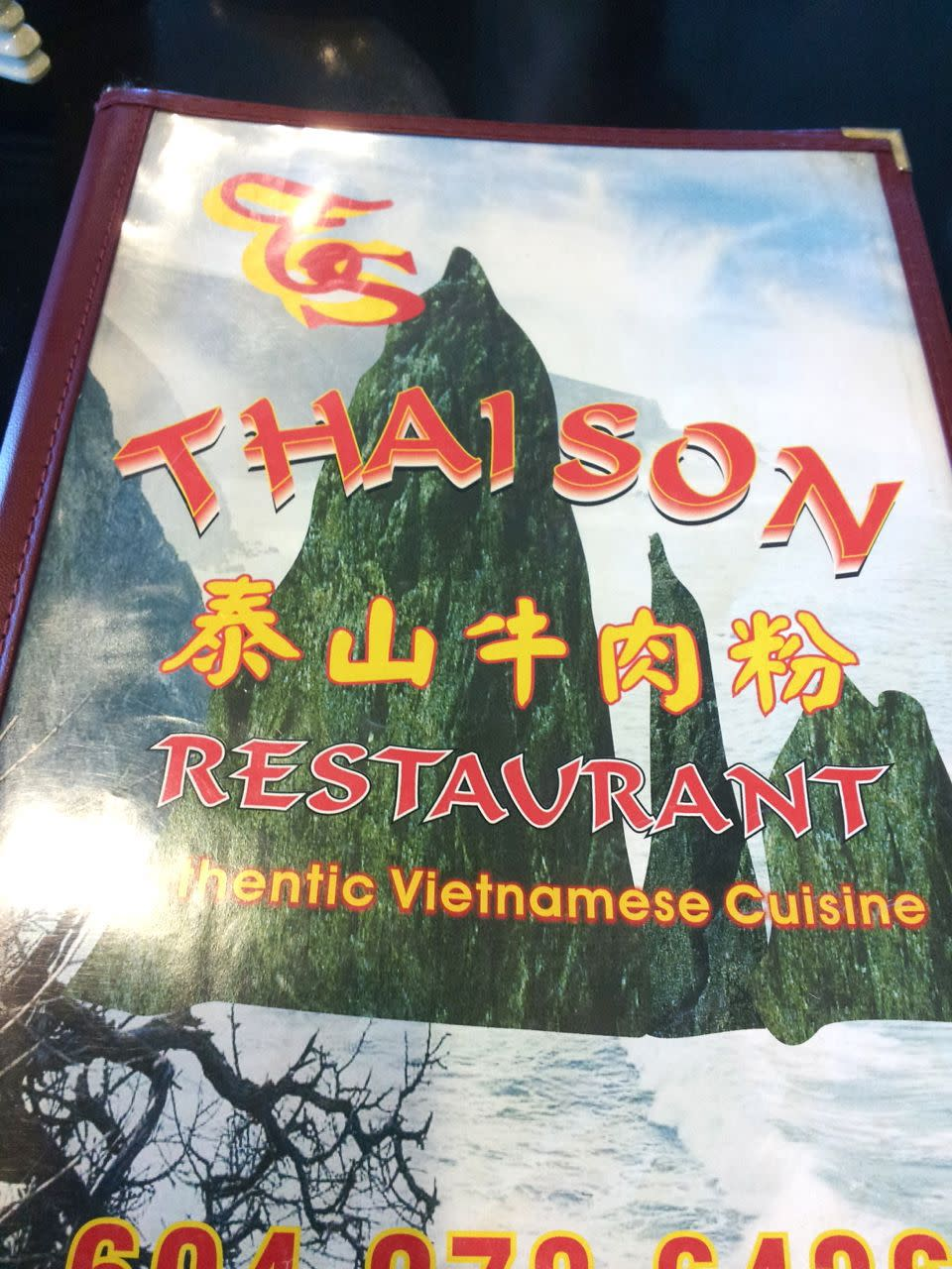 Thai Son menu