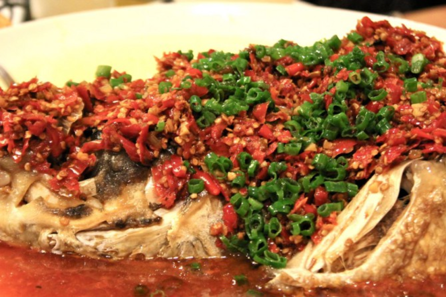Fish dish at Bushuair Restaurant