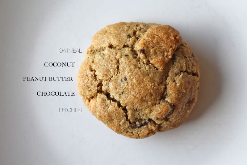 peanut butter chocolate coconut cookies