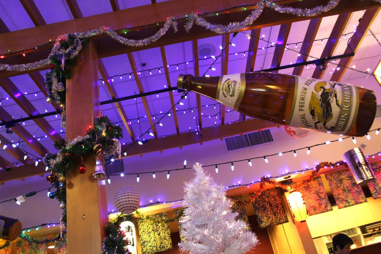 Richmond Sushi Christmas decorations