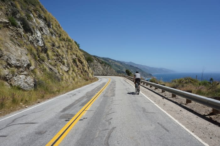 Bicyclist on Highway 1