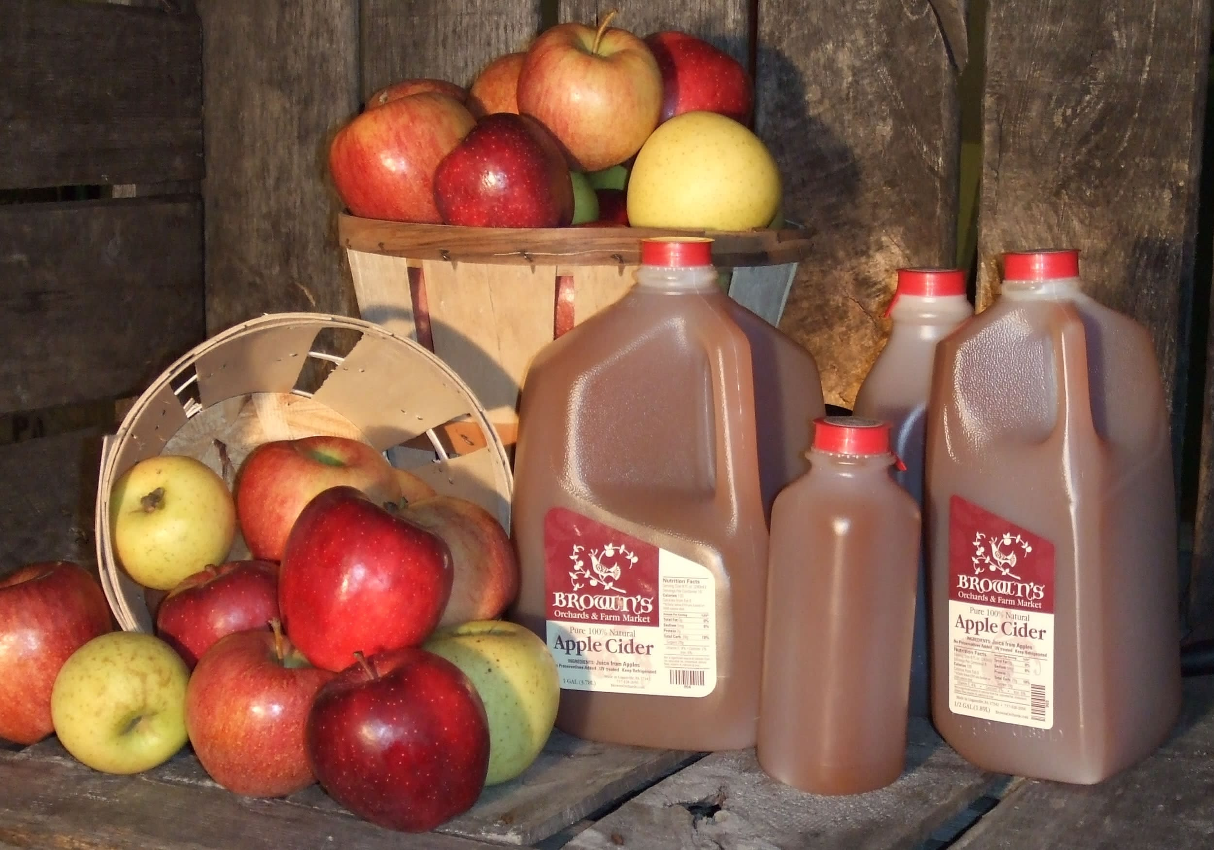 The secret to Brown's apple cider? It's just apples.