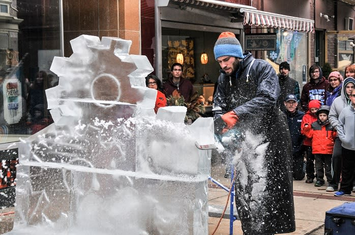 With more than 18,000 pounds of interactive ice, FestivICE laughs at the cold.