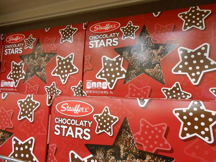 Meet Santa Claus and pick up some holiday favorites this weekend at Stauffer's Cookie Outlet.