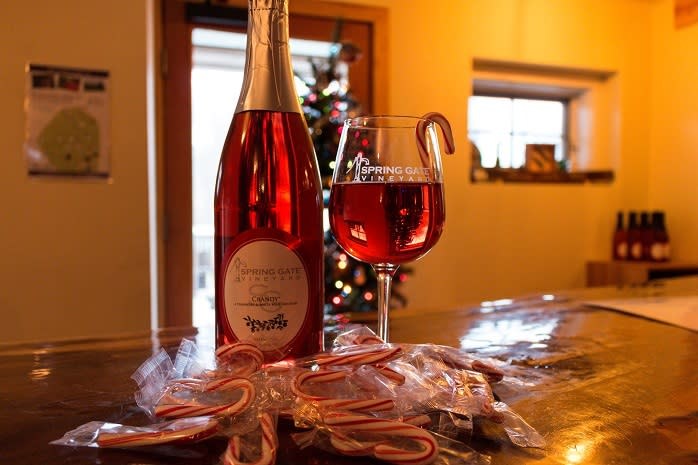 Spring Gate Vineyard & Brewery makes a Crandy Wine perfect for the holidays. It's not the only Mason-Dixon Wine Trail winery with festive offerings, either.