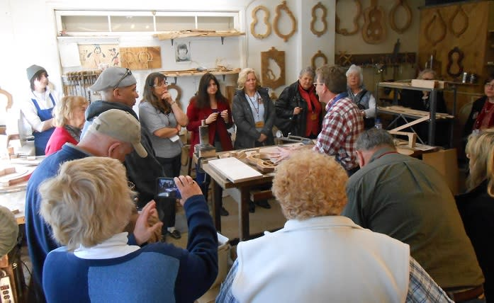Visitors can see how Bluett makes his instruments with a tour of the shop.