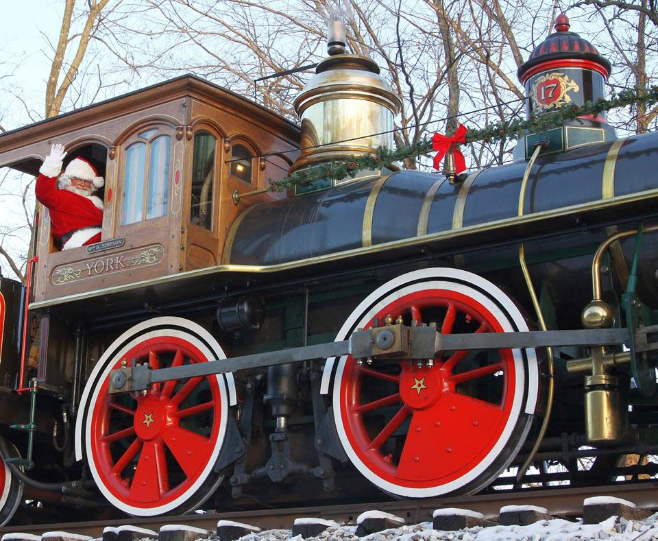 Santa joins the Steam Into History crew for special holiday rides.