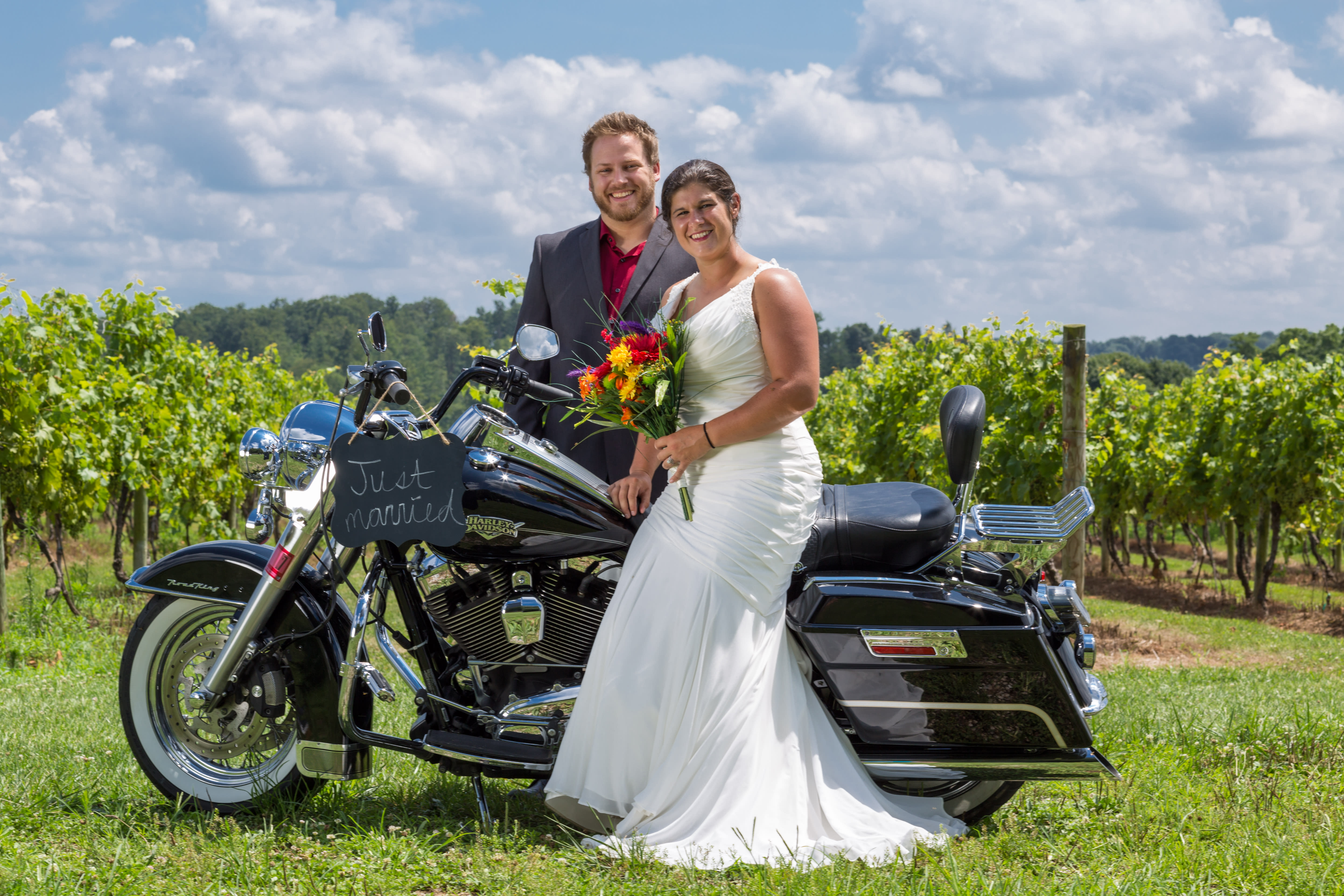 The vineyard at Naylor Wine Cellars, York County's oldest winery, also makes for a striking wedding venue.