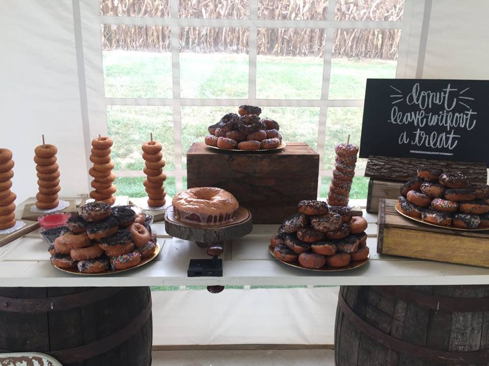 Make your wedding stand out with a Fractured Prune treat table your guests will remember.