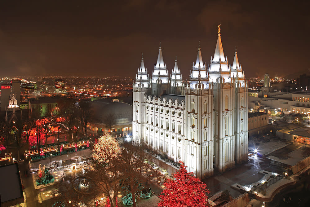 Lights at Temple Square