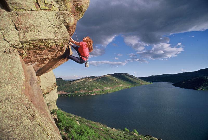 Rock Climber at Horsetooth Reservoir, Credit Tim O'Hara (9)