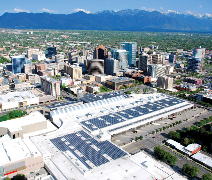 The Salt Palace Convention Center's Rooftop Solar Array