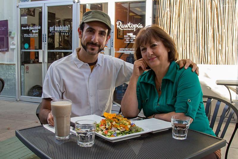 Omar and his mom, Janin. Photo: John Barkiple for SLUG Magazine..