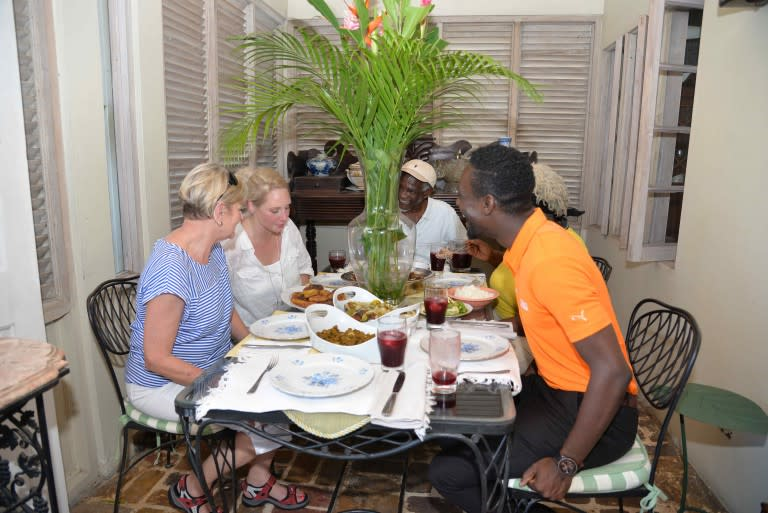 photo of cook book author amy sins in jamaica