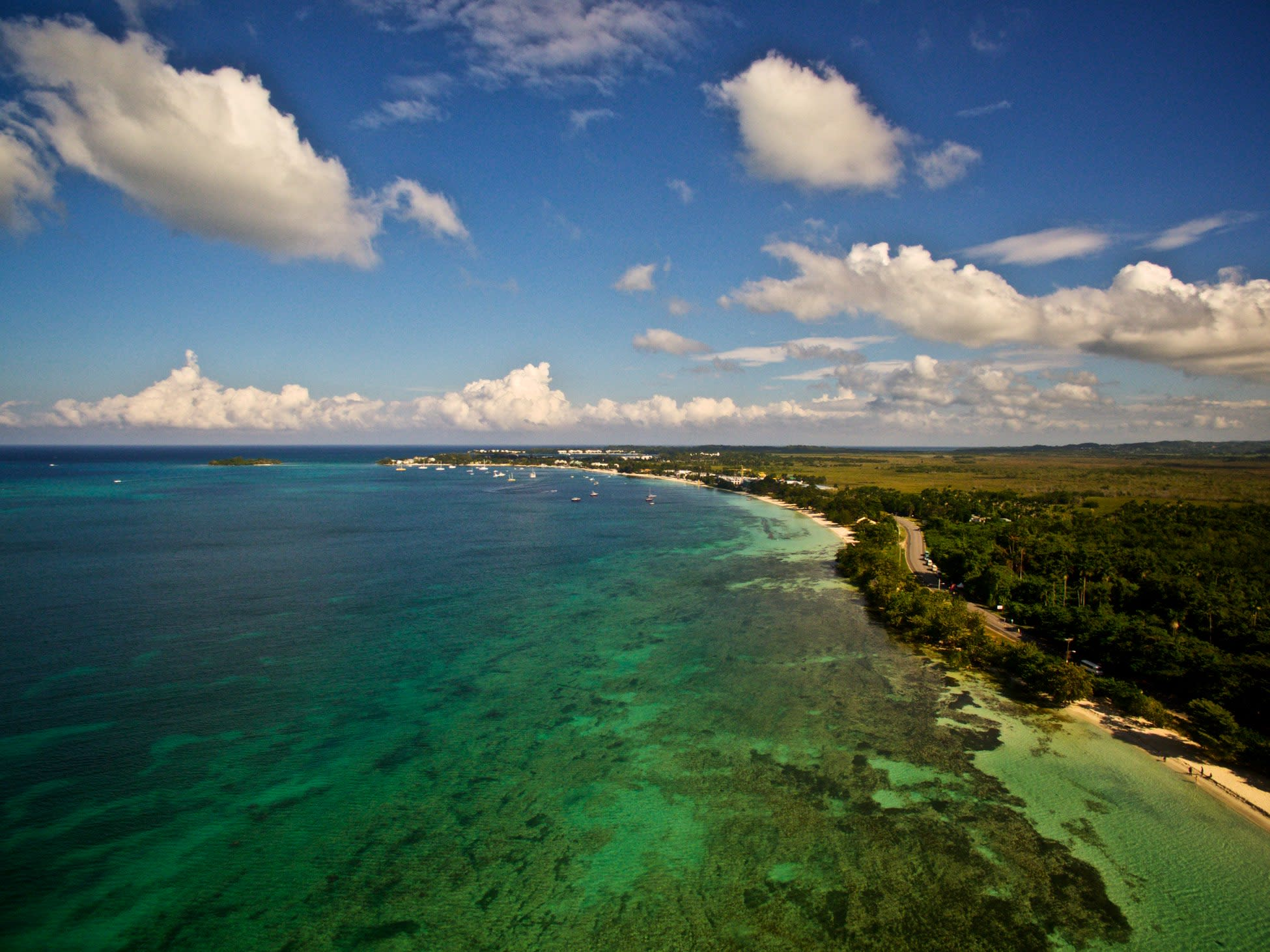 The setting for the 2016 Reggae Marathon, Negril's seven-mile beach.