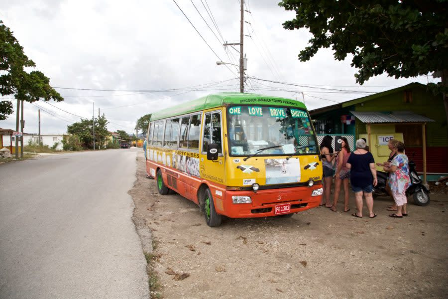 One of many stops aboard the One Love Bus Bar Crawl in Negril, Jamaica.