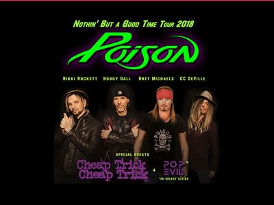 Poison at Jiffy Lube Live
