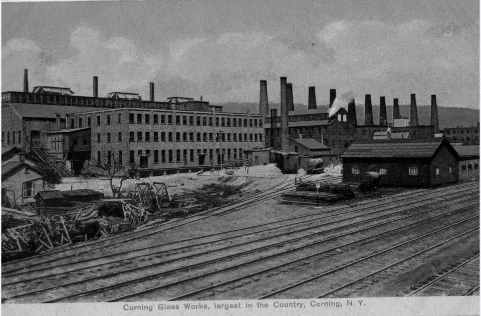 Corning Glass Works courtesy of Steuben County Historical Society