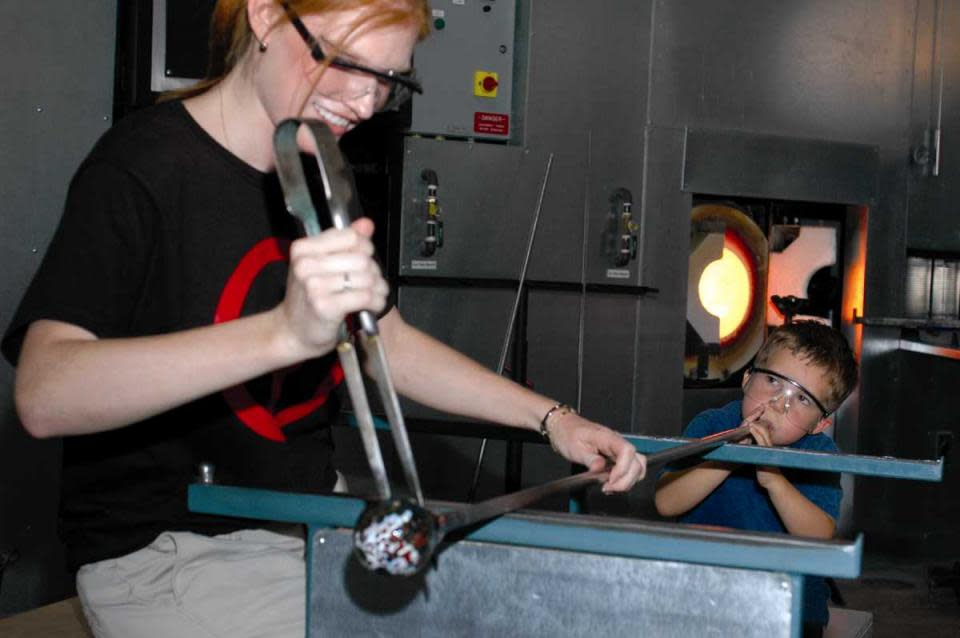 Glassblowing courtesy of The Corning Museum of Glass