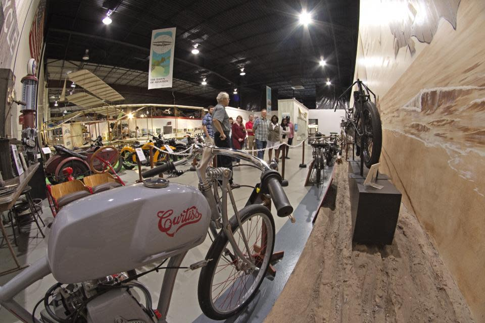 Motorcycles on display at Glenn Curtiss Museum photo courtesy of Stu Gallagher