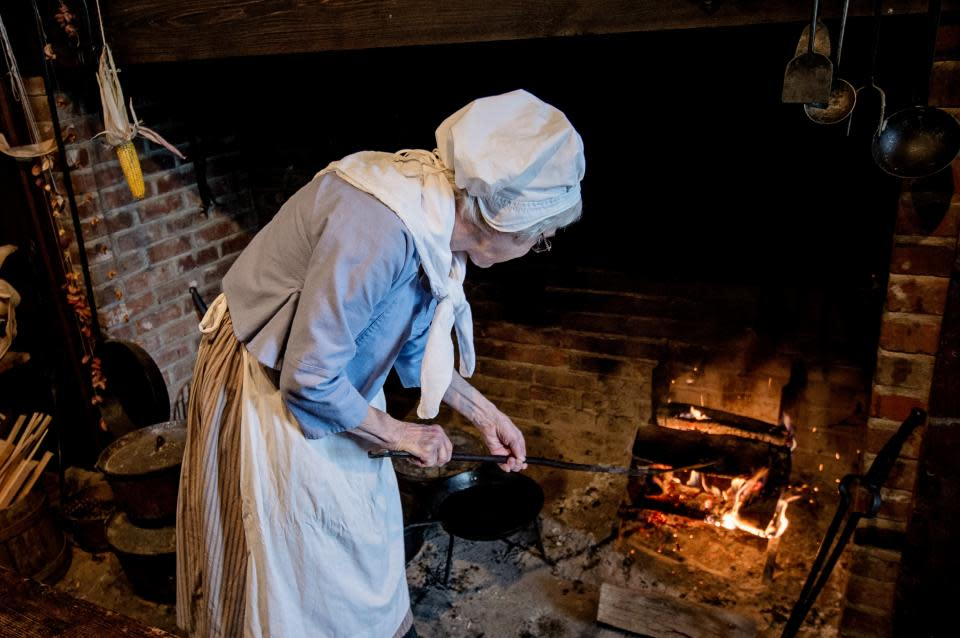 Hearth cooking at Heritage Village of the Southern Finger Lakes courtesy of Stu Gallagher