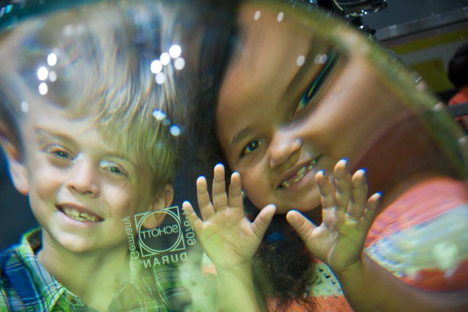 Kids at the Corning Museum of Glass