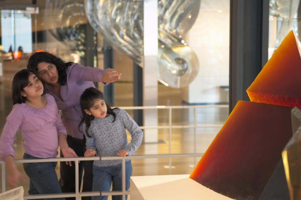 Family at the Corning Museum of Glass courtesy of Corning Museum of Glass
