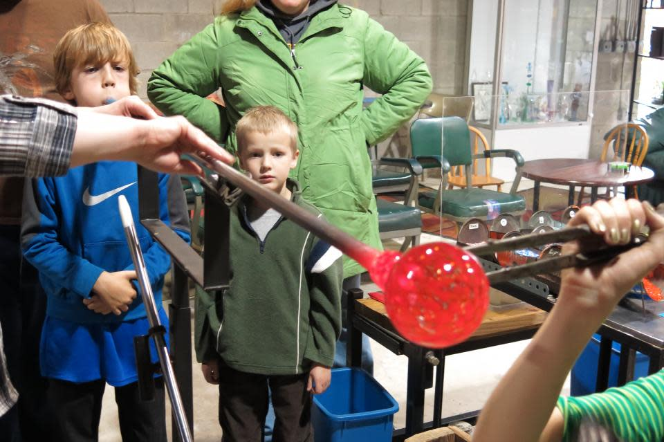 Glassblowing at Hands-on Glass Studio