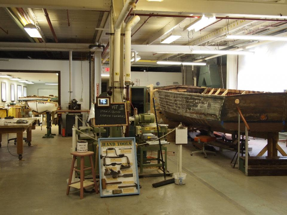 Restoration Shop and Pat II courtesy of the Finger Lakes Boating Museum